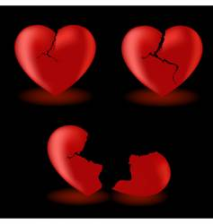 Set from broken hearts vector