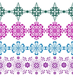 Set seamless colorful border vector image