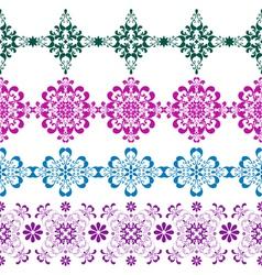 Set seamless colorful border vector image