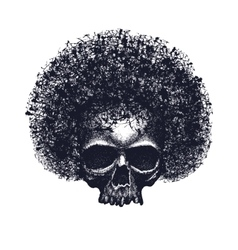 Skull reggae tee graphic design vector image