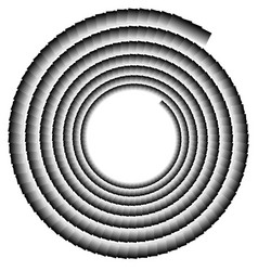 Spiral shape made of overlapping rectangles vector