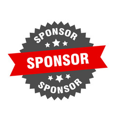 Sponsor sign sponsor red-black circular band label vector