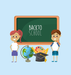 students knowledge to education and learn things vector image