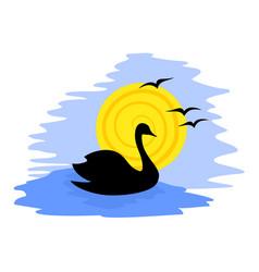 Swan draw vector