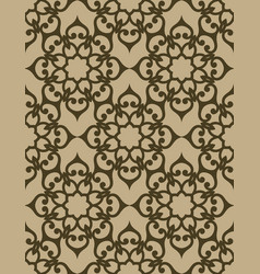 swirly lace texture golden seamless pattern vector image