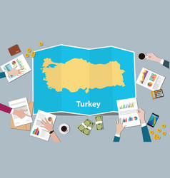 turkey economy country growth nation team discuss vector image