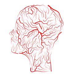 vein human head symbol icon design beautiful vector image