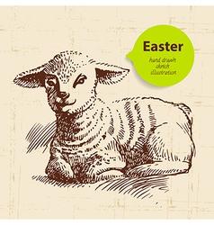 Vintage Easter background vector image
