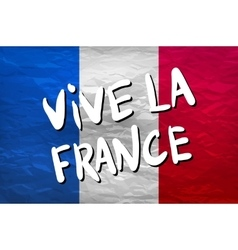 Vive la France hand painted national flag vector