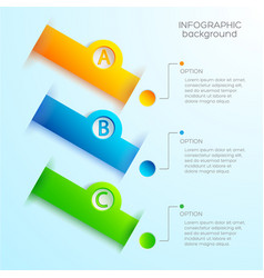 Web abstract infographic template vector