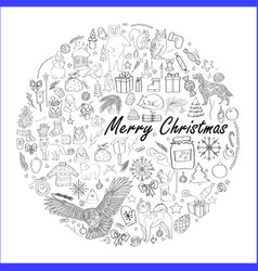 winter images isolated vector image