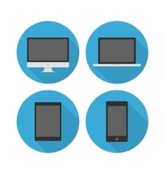 Electronic devices icon set vector image vector image