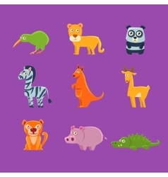 Exotic Animals Fauna Collection vector image vector image