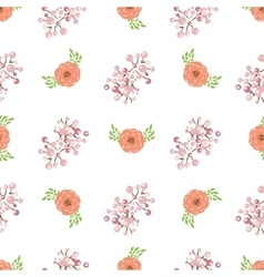 Floral wreath seamless pattern vector