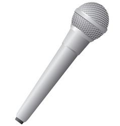 modern wireless microphone vector image