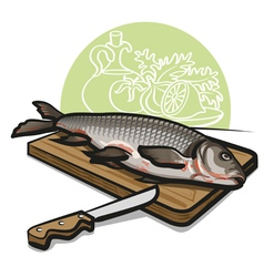 raw fish vector image vector image