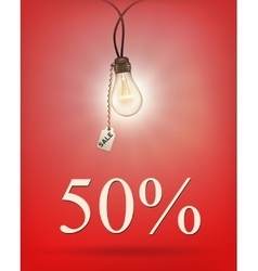 Sale background with lamp vector image vector image