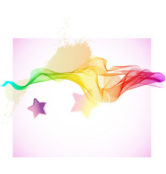 Abstract colorful wave with stars vector image vector image