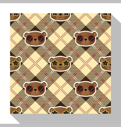 Animal seamless pattern collection with bear 4 vector image
