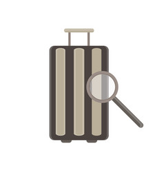 baggage flat icon luggage travel bag isolated vector image vector image