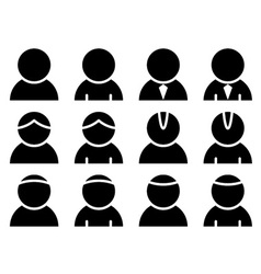 black person icons vector image