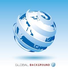 blue global background vector image