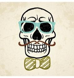 decorative skull vector image