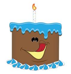 Just a taste birthday cake chocolate vector image