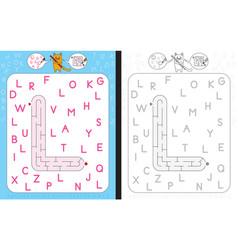 Maze letter l vector