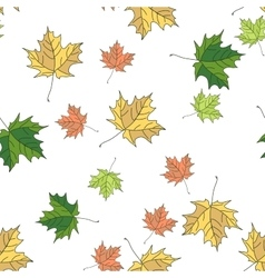 Seamless pattern of autumn vector image vector image