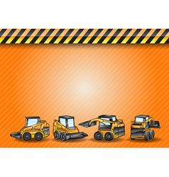 construction four minicar orange vector image vector image