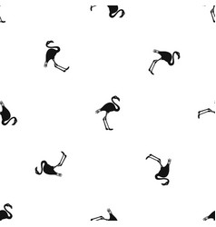 flamingo pattern seamless black vector image