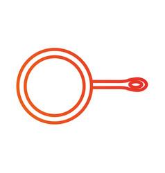 Frying pan kitchen utensil for cooking food vector