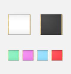 Realistic Chocolate Bar Packaging Mockup Set vector image vector image