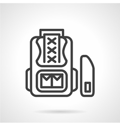 School knapsack icon line style vector image vector image