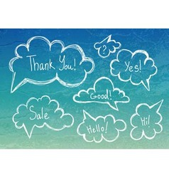 set of speech bubbles vector image vector image