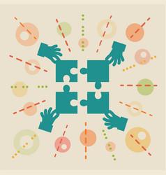 teamwork concept business vector image
