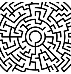 Abstract round maze pattern vector