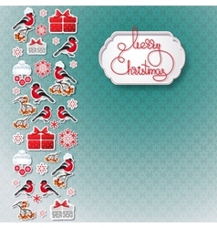 Bullfinch gift snowflake seamless background vector image vector image