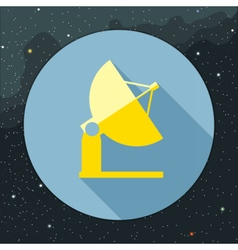 Digital with yellow space antenna icon vector