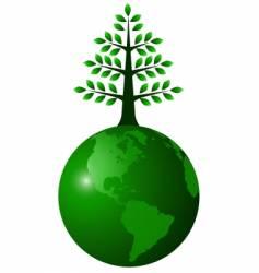 globe green vector image vector image