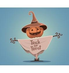 halloween of decorative scarecrow with head vector image