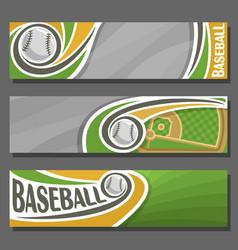 horizontal banners for baseball vector image