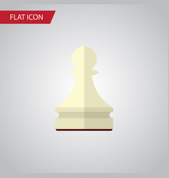 isolated chess flat icon pawn element can vector image