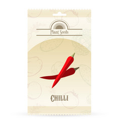 pack of chilli seeds icon vector image vector image