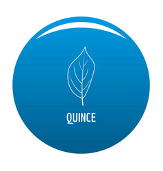 quince leaf icon blue vector image
