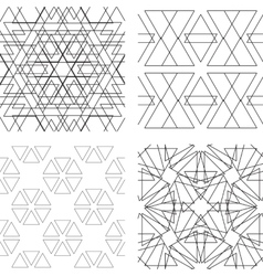Seamless black and white ornament Modern stylish vector image