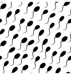 seamless texture- spermatozoons vector image vector image