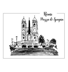 sketch of the spanish steps in rome vector image vector image