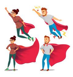 super businesswoman character achievement vector image
